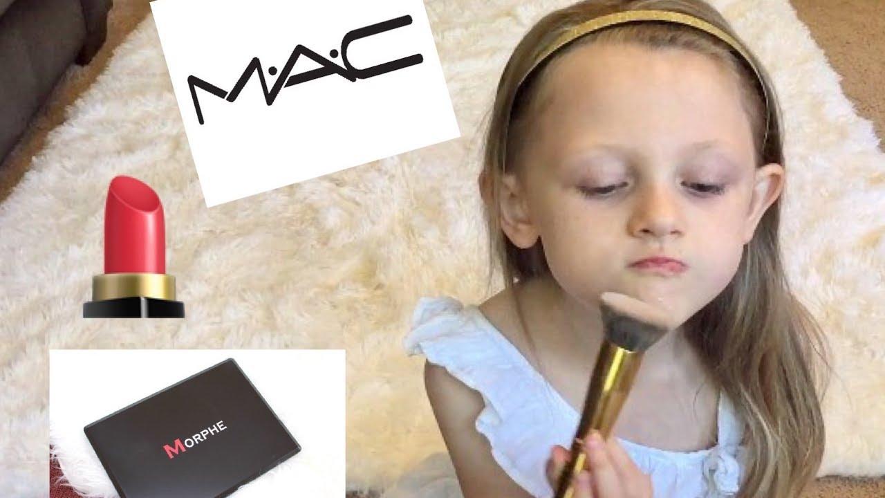 Mollyu0026#39;s Makeup Tutorial    Best Makeup Tutorial Ever!   Little Girl Does Her Own Makeup - YouTube