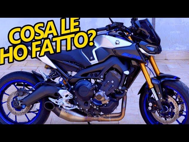 MODIFICHE ALLA MIA MOTO (Yamaha MT 09 SP)