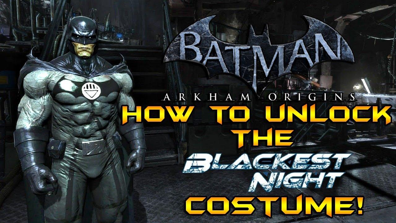 batman arkham origins how to unlock the blackest night