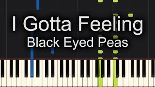 I Gotta Feeling Black Eyed Peas Piano Tutorial Synthesia (Chords)