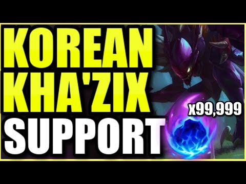 (MAXIMUM POKE!) THIS NEW KOREAN KHA'ZIX SUPPORT IS 100% NOT BALANCED! INSTANT DELETIONS!