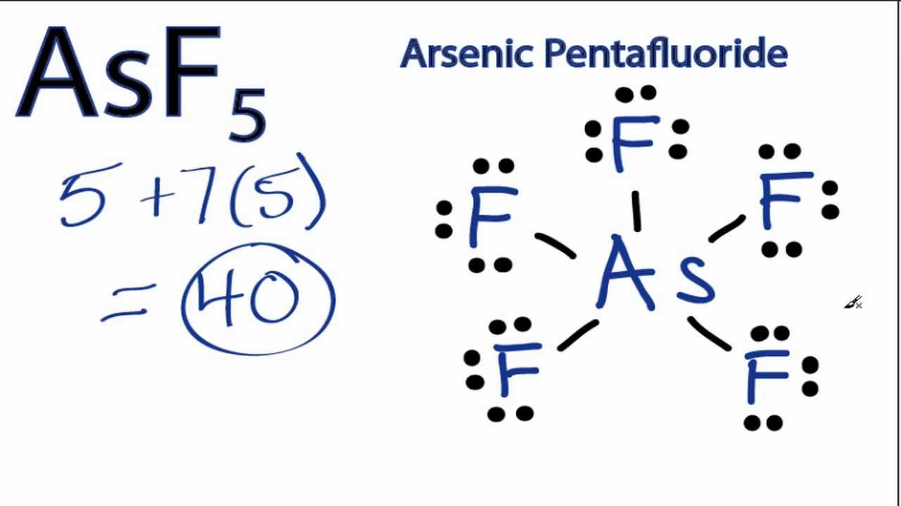 AsF5 Lewis Structure: How to Draw the Lewis Structure for ...
