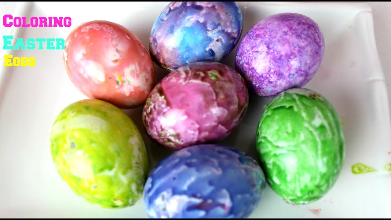 Coloring Easter Eggs Spin An Egg Colorful Marbled B2cutecupcakes You