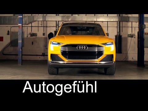 Audi h-tron quattro concept hydrogen fuel cell electric drive 600 km - Autogefühl