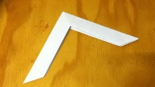 How To Make A Paper Boomerang - An Origami Boomerang
