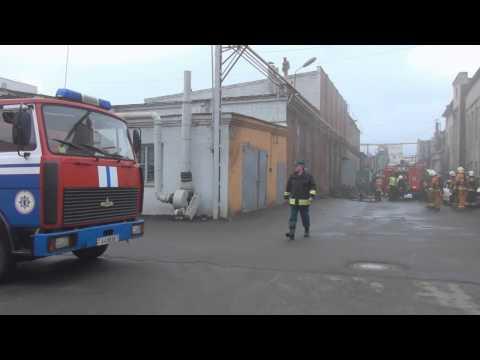 21-02-2013 г Минск пр Партизанский 8 пожар на ОАО МОТОВЕЛО