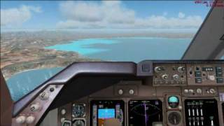IBERIA-PMDG-747-400 Landing in Aerosoft