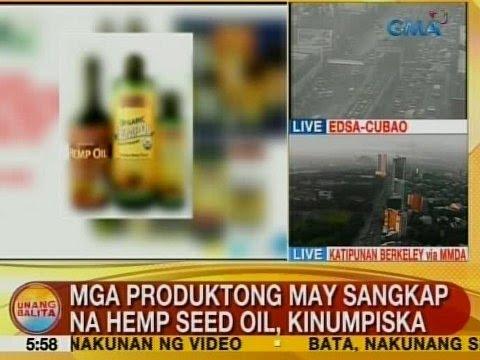 UB: Mga produktong may sangkap na hemp seed oil, kinumpiska