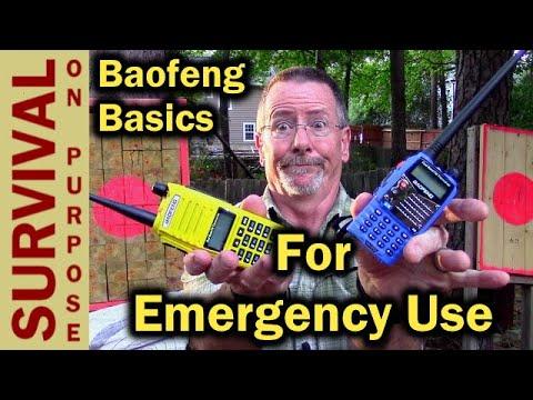 How To Use A Baofeng Radio For Emergency Preparedness - Ham Radio Basics