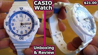 CASIO Watch Unboxing + Review MRW 200H 7B2V G Shock White Edifice Pro Trek