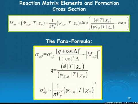 INT 14-1: Horst Lenske, Fano-Resonances in Atomic, Nuclear, and Hadronic Systems