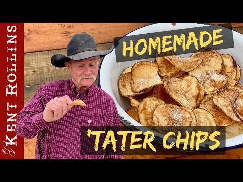 Homemade Potato Chips | How to Make Crispy Potato Chips