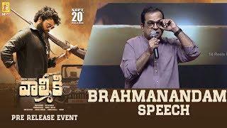 Comedian Brahmanandam Speech @ Valmiki Pre-Release Event | 14 Reels Plus