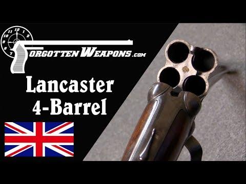 Lancaster Four-Barrel Shotgun With Double-Action Trigger