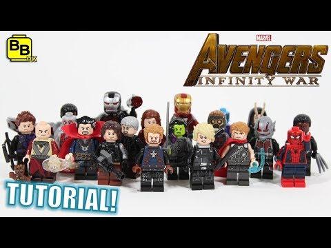 2018 AVENGERS INFINITY WAR LEGO MINIFIGURE CREATIONS!