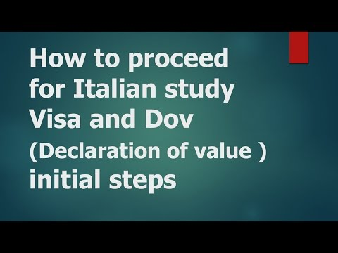 How to proceed for student visa for Italy