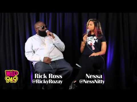 Nessa Interviews Rick Ross @ Wild 94.9 on July 23,2012