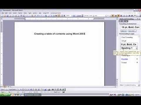 how to make a contents page in word youtube