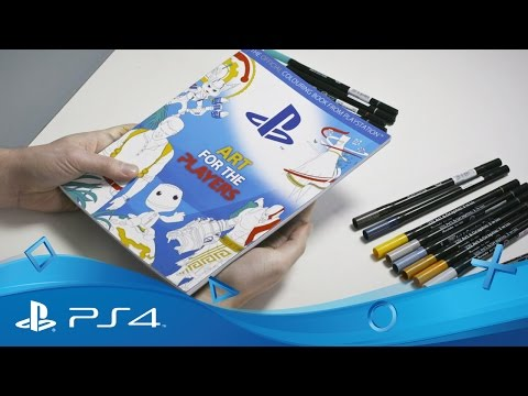 Art for the Players | Official PlayStation Colouring Book