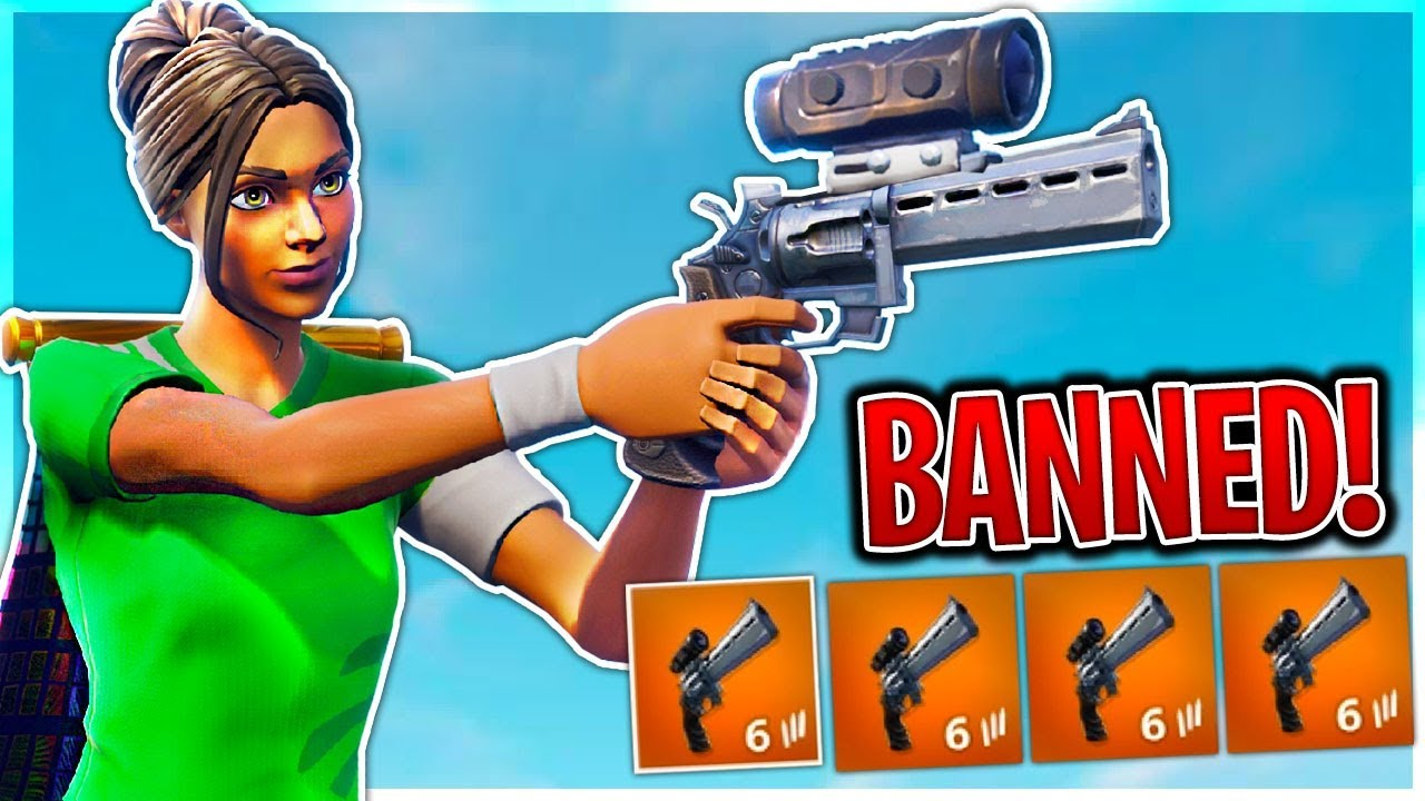The SCOPED REVOLVER Should Be BANNED In Fortnite Battle