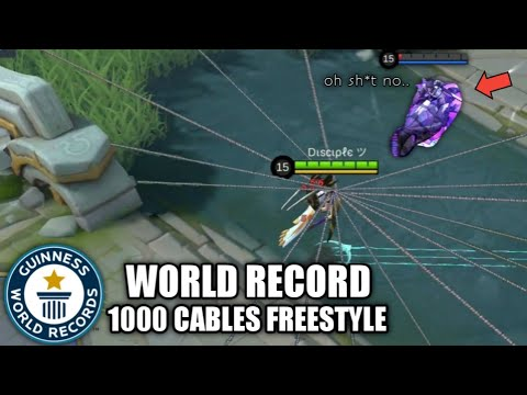 1000 CABLES FANNY ( WORLD RECORD CABLES 🤔 ) MUST SEE! - MOBILE LEGENDS BANG BANG 2019 thumbnail