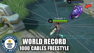 1000 CABLES FANNY ( WORLD RECORD CABLES 🤔 ) MUST SEE! - MOBILE LEGENDS BANG BANG 2019