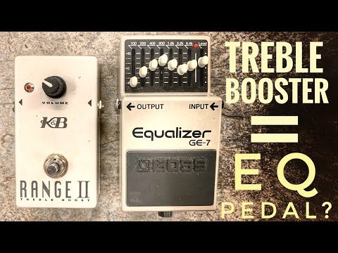 Do I really need a TREBLE BOOSTER or does my EQ PEDAL already do that job?