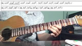 Ký âm chia sẻ rao vọng cổ dây xề + câu 1 (Theo lối đàn của NS Hoàng Vũ)