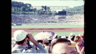 HD stock Footage - 1960 Summer Olympics Stadium Crowd Clip#2