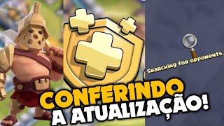 CONFERINDO A NOVA ATUALIZAÇÃO DO CLASH OF CLANS! TROPAS, DEFESAS, PASSE DE BATALHA E NUVEM!