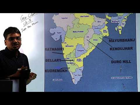 Class 10 Geography Map Work || Iron Ore Mines Map Work || Class 10 Geography Chapter 5 Map Work