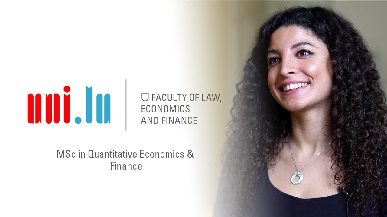 MSc in Quantitative Economics and Finance