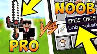 MINECRAFT 1.14 : COMMENT AVOIR UNE EPEE DE NOOB VS EPEE DE PRO !