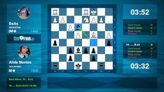 Chess Game Analysis: BsAs - Alida Montes : 0-1 (By ChessFriends.com)