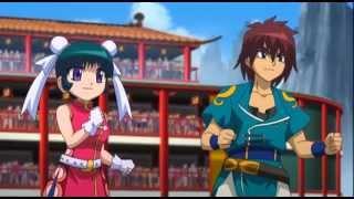 Beyblade Metal Fury - Gingka & Yuki vs Chao Jin & Mei Mei