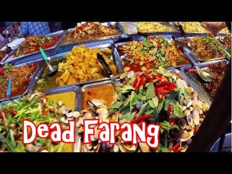 Yummy Thai Street Food at Thepprasit Night Market in Pattaya Thailand