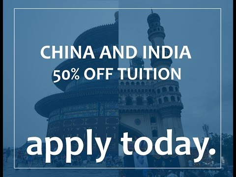 2 Chances to go to China/India for 50% Off Regular Tuition!
