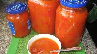 СЛАДКИЙ ПЕРЕЦ в томатном соке Закрутки на зиму