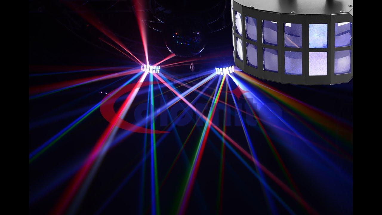 Led Derby Effect Light 2x15w Rgbw For Clubdj