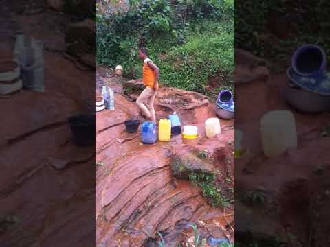 water plea by jean and people of Dzeng village in the centre region of Cameroon
