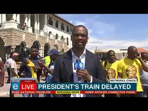Ramaphosa's train delayed in Pretoria