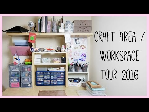 Updated Craft Area / Workspace Tour 2016 ● xoxRufus, Polymer Clay