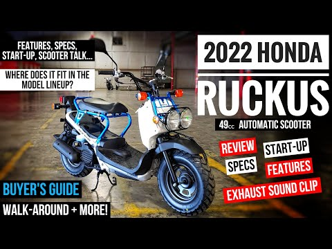 2022 Honda Ruckus 49cc Scooter Review of Specs, Changes, Features + Walkaround | NPS 50