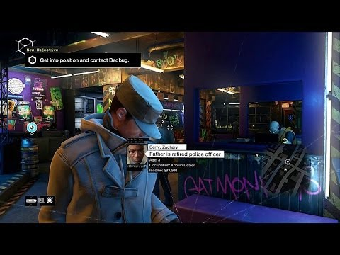 Watch Dogs - Painting A Bug: Plant Bug in Hip-Hop Joint, Get Into Position & Contact Bedbug, Stealth