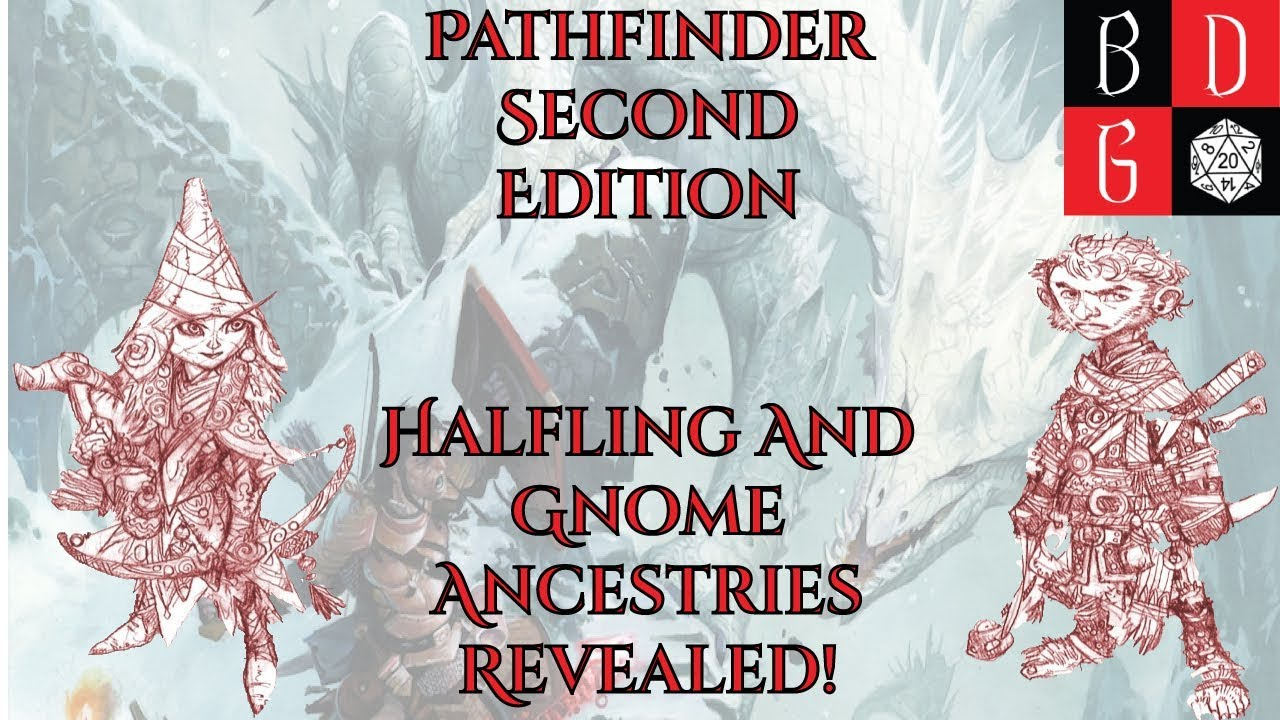 Pathfinder Second Edition Halfling And Gnome Ancestries REVEALED! Feats,  Traits, And ROLLUP INFO!