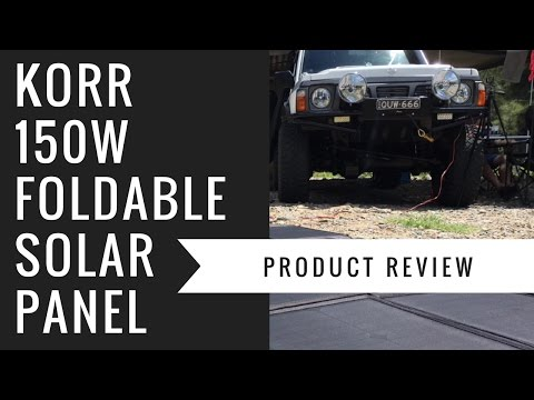 Korr 150w Foldable Solar Panel