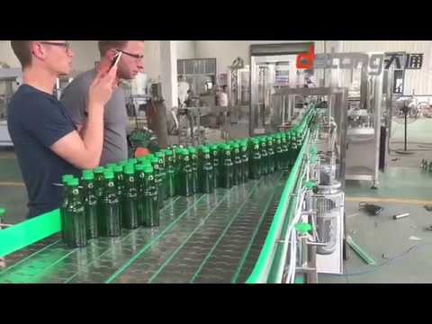 glass bottle lemon juice filling production line 18-18-6 6000BPH