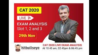 CAT 2020 - Slot 1 Analysis