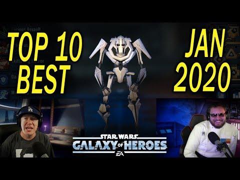Top 10 Best Characters Jan 2020 - Star Wars: Galaxy of Heroes - SWGoH