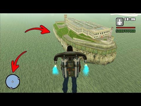 Secret Island With Prison In GTA San Andreas! (Alcatraz Island)